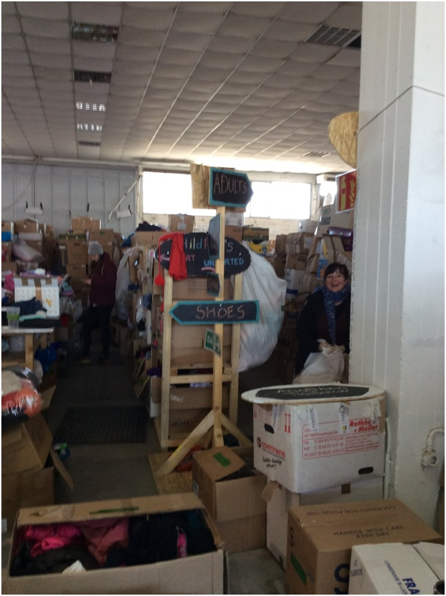 Greece pic 2, Help Refugees warehouse